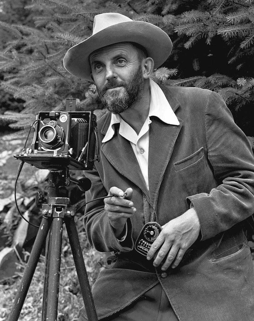Ansel Adams and camera