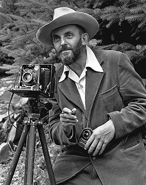 English: A photo portrait of photographer Anse...