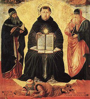 The Glory of St. Thomas Aquinas, detail. Paris...