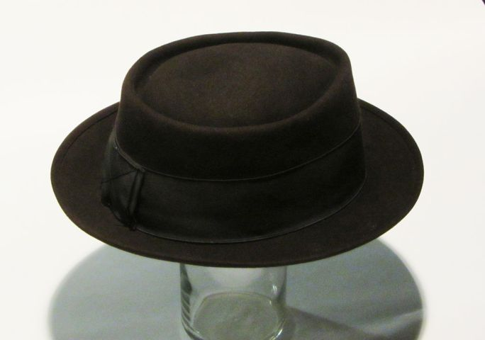 Brown Porkpie Hat