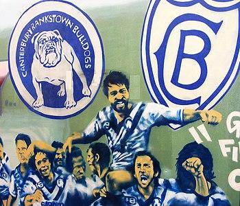 Canterbury-Bankstown Bulldogs celebrate a gran...
