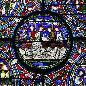 Canterbury cathedral, Ministry of Jesus window...