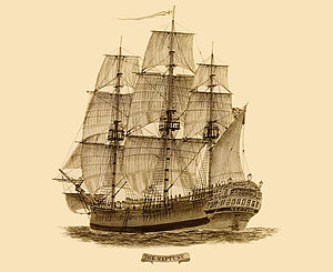 Convict ship the Neptune (via Wikipedia). No picture survives of the Friendship.