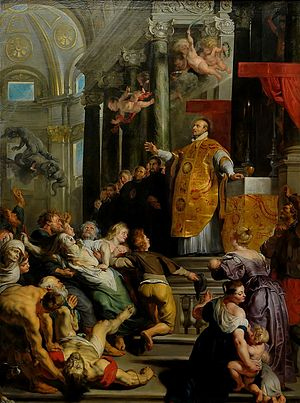 Glory of St Ignatius of Loyola by Rubens (1616...