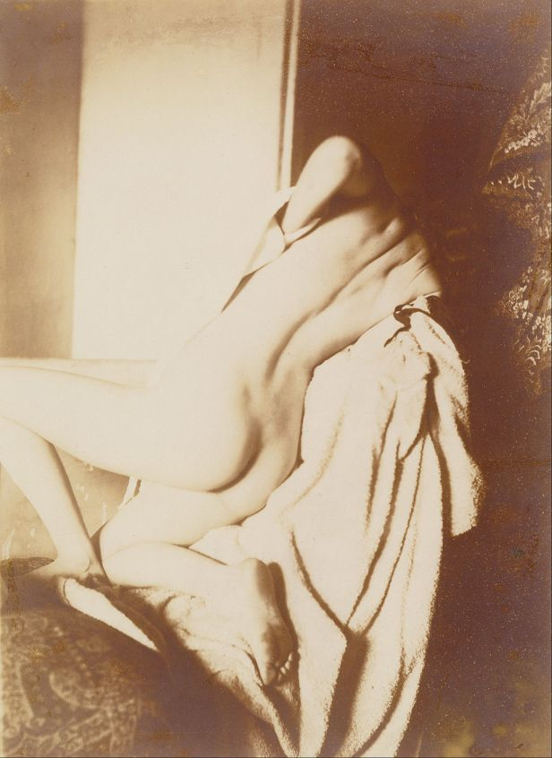 Edgar Degas - After the Bath, Woman Drying Her Back - Google Art Project
