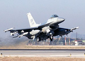 An F-16CJ Fighting Falcon deployed from Shaw A...