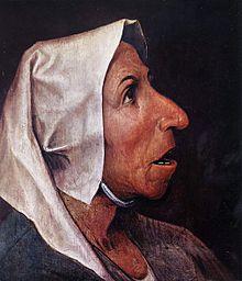 Tête de paysanne, par Pieter Bruegel l'Ancien, 1568