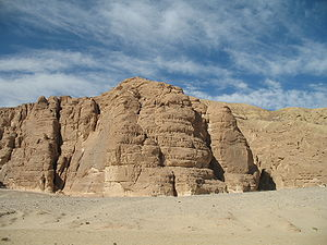 English: Desert of the Sinai, Egypt Nederlands...