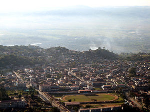 A panorama of Taunggyi, Shan State Deutsch: Bl...