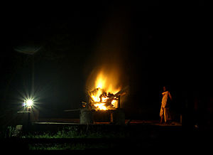 English: Cremation is the process of reducing ...