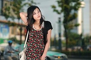 Woman in Hangzhou, China.