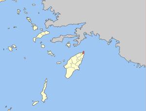 Locator map of Rhodos municipality (Δήμος Ρόδο...