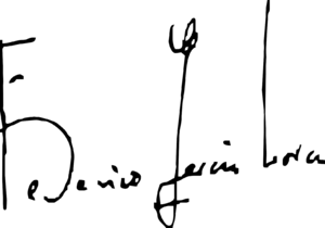 Español: Firma de Federico García Lorca.