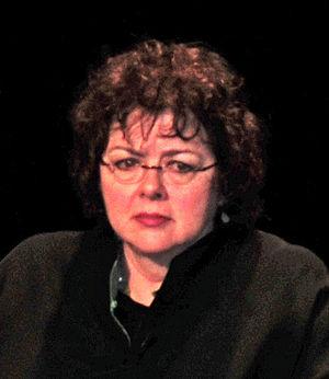 English: Laurie Garrett during the Q&A period ...