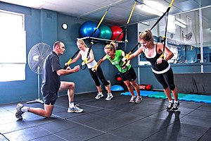 Group Personal Training at a Gym Category:Fitn...