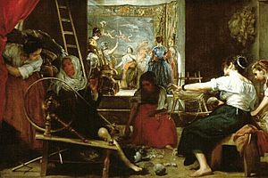 English: Las Hilanderas by Diego Velazquez, ve...