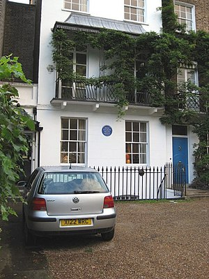 English: House of Bram Stoker Blue Plaque plac...