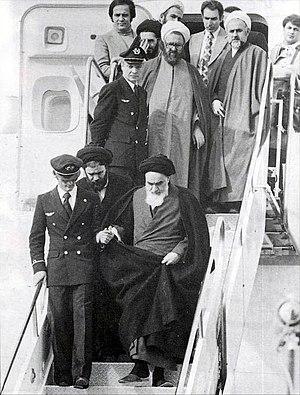 Ayatollah Khomeini returns to Iran after 14 ye...