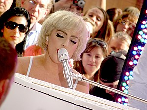 "Lady Gaga performing ""You and I"" on ..."