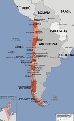 Mapa administrativo de Chile