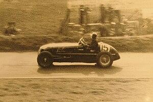 Doninington Grand _Prix 1937. Robin Hanson dri...