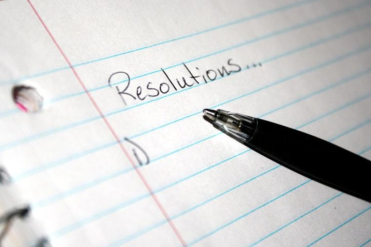 Resolutions New Year's Resolution List Blank Page with Pen