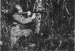 A Polish soldier with a RPG-2 launcher.
