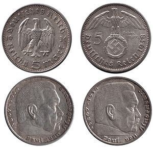Obtained from article Reichsmark in german wik...