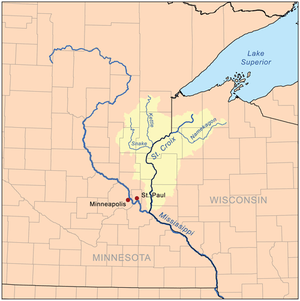 Map of the St. Croix River watershed.