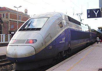 The TGV Duplex power cars use a more streamlin...