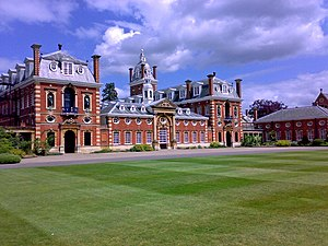 English: View of Wellington College main build...