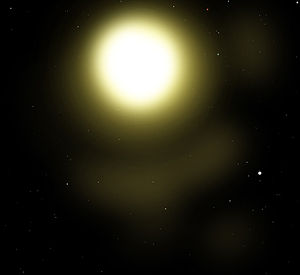 English: Delta Canis Majoris, otherwise known ...