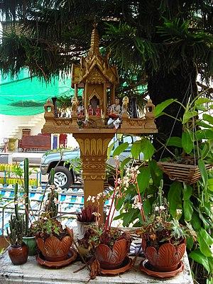 English: Thai Spirit House.