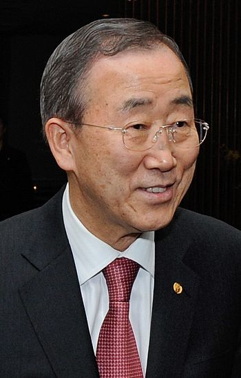 English: Ban Ki-moon, South Korean politician