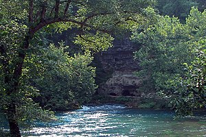 Big Spring, a giant karst spring in The Ozarks...