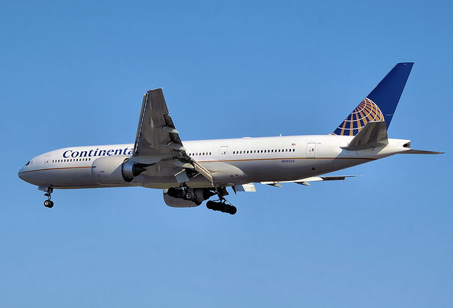The Boeing 777-200ER, Continental's long-haul ...