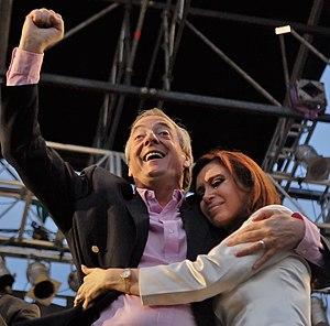 El Presidente de Argentina, Néstor Kirchner, e...