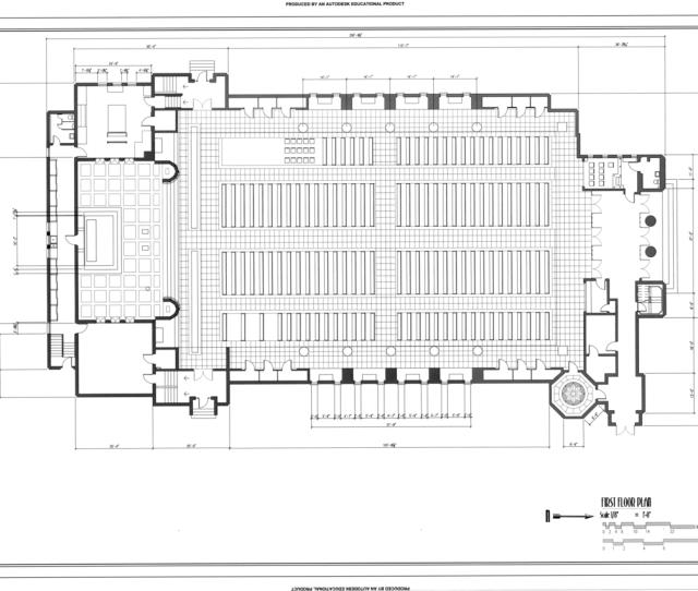 Filefirst Floor Plan Saint Sebastian Church  Mull Avenue Akron Summit County Oh Habs Oh  Of  Png