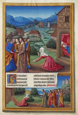 Jesus exorcising the Canaanite Woman's daughte...