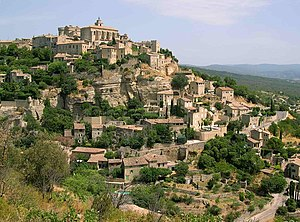 village of Gordes in Vaucluse (France).