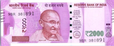 Image result for 2000 rupee note