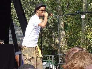 Kid Cudi performing at Central Park SummerStage
