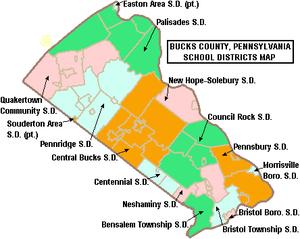 Map of Bucks County, Pennsylvania, United Stat...
