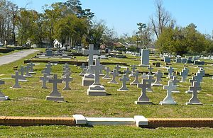 Old Catholic Cemetery in Mobile, Alabama. Form...
