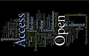 Wordle on a German Open Access Text