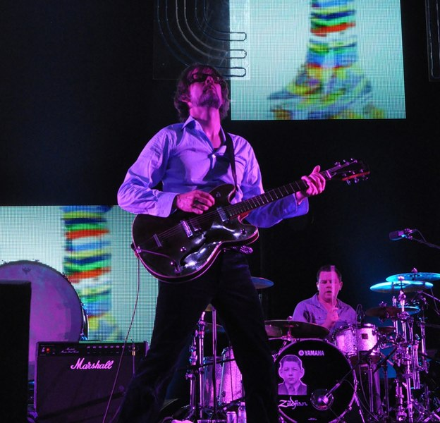 Jarvis Cocker performing with Pulp at the 2012 Coachella Festival