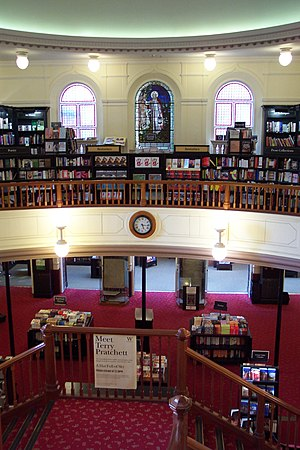 The interior of Waterstone's book shop, the fo...