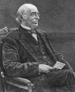 William Lloyd Garrison, engraving from 1879 ne...
