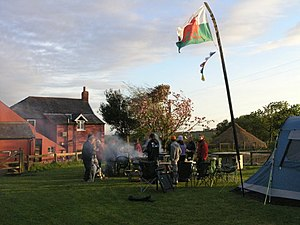 English: Barbecue at Clyne Farm Clyne farm is ...