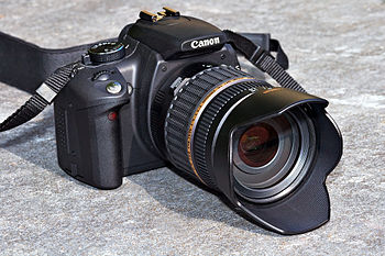 This image shows a Canon EOS 350D digital sing...